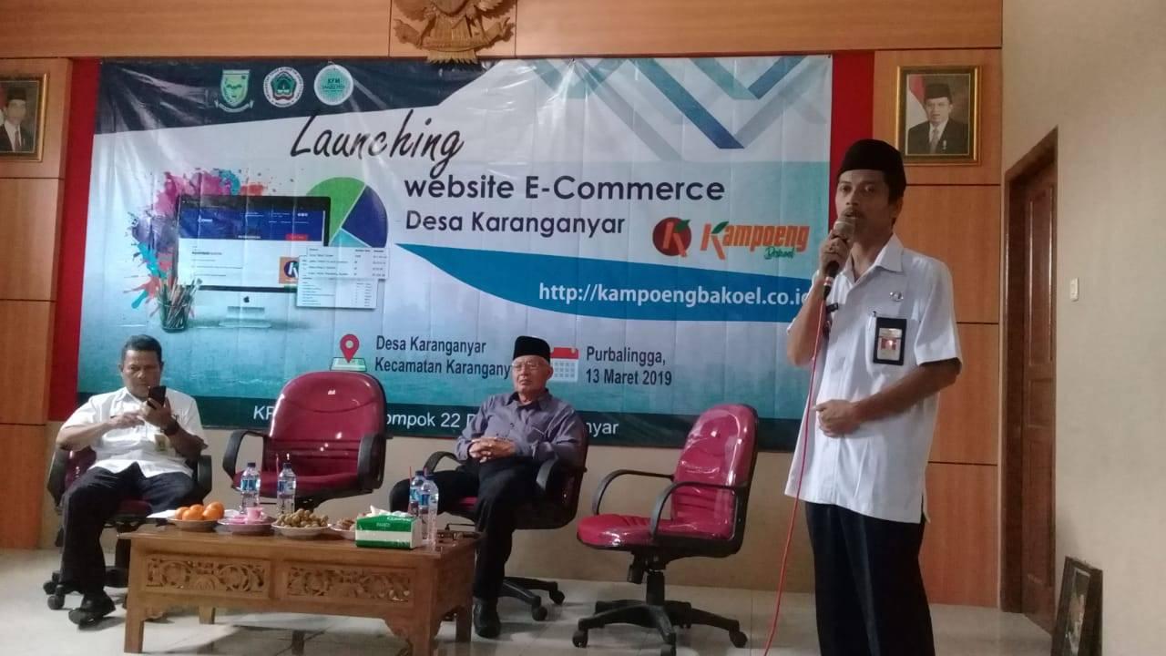 Aplikasi Kampoeng Bakoel Desa Karanganyar Diluncurkan
